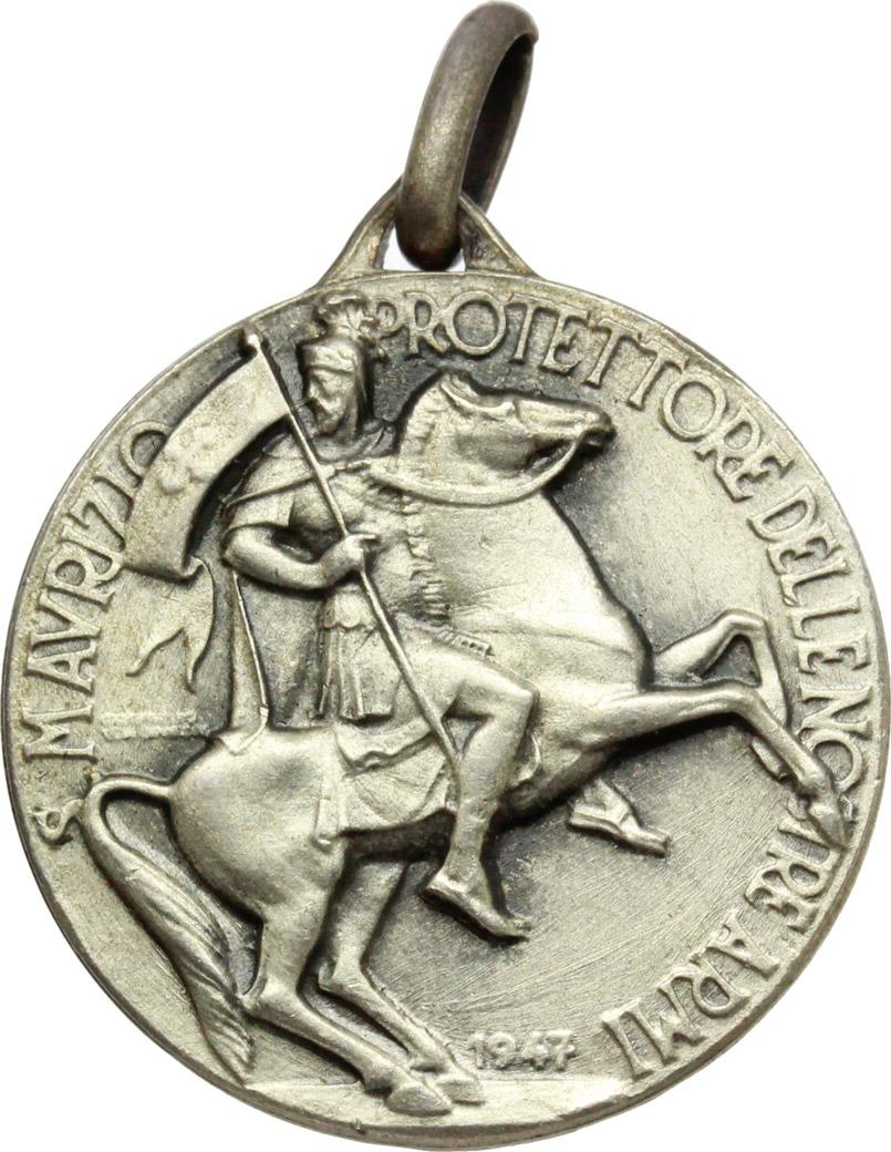 D/  Medaglietta San Maurizio. Circolo Ufficiale  delle Forze Armate d'Italia.     AG.   mm. 22.00    qSPL.