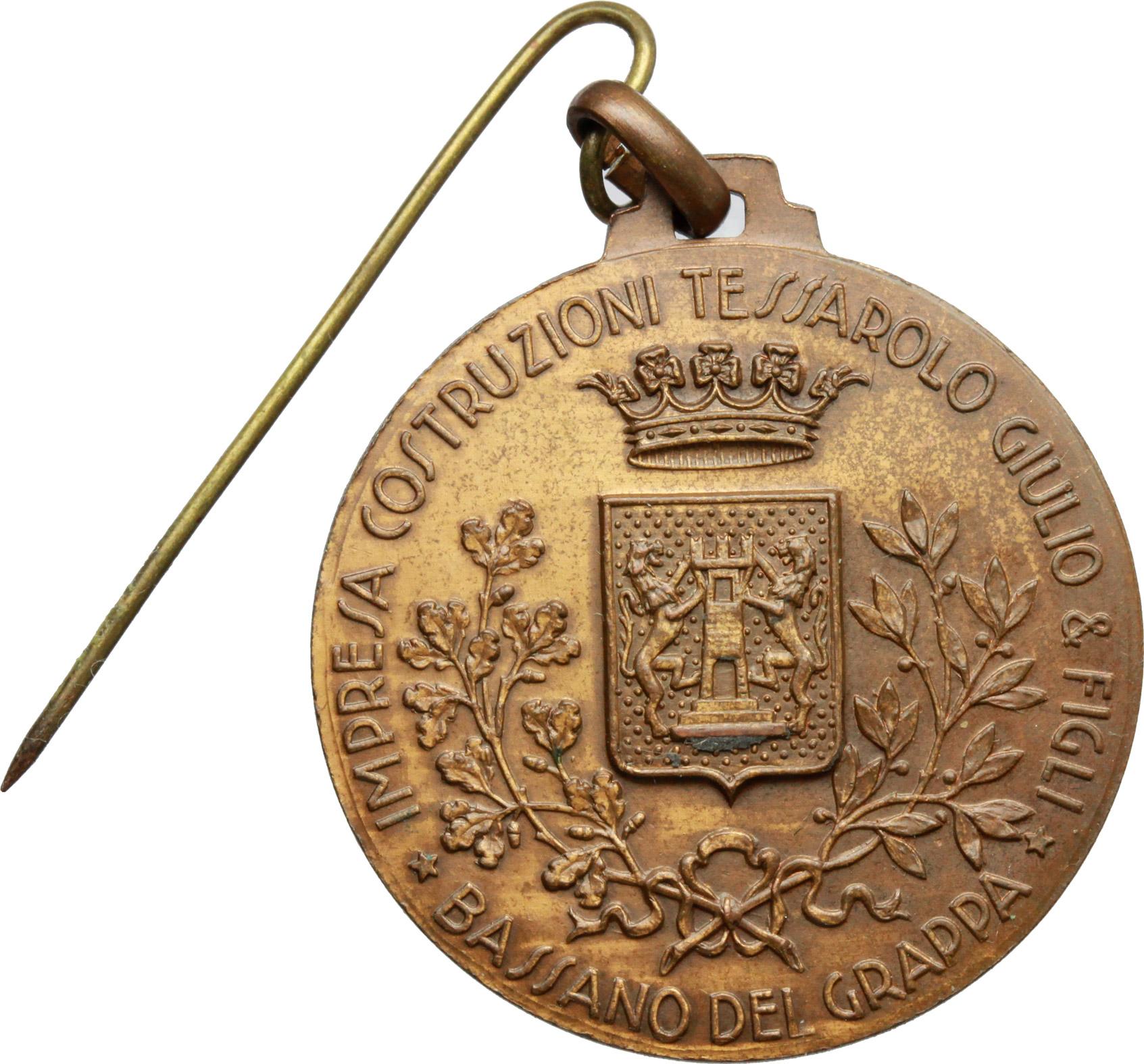 R/ Alpini. Medaglia alpini per la ricostruzione del ponte di Bassano del Grappa.     AE.   mm. 32.20    SPL.