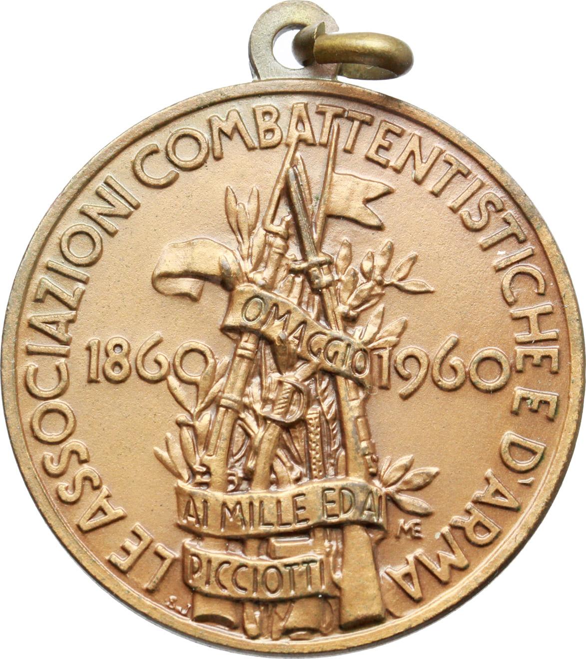 R/  Medaglia Le Associazioni Combattentistiche e d'Arma, 1860-1960. Raduno Nazionale di Palermo, 27 maggio 1960.     AE.   mm. 32.00    SPL.
