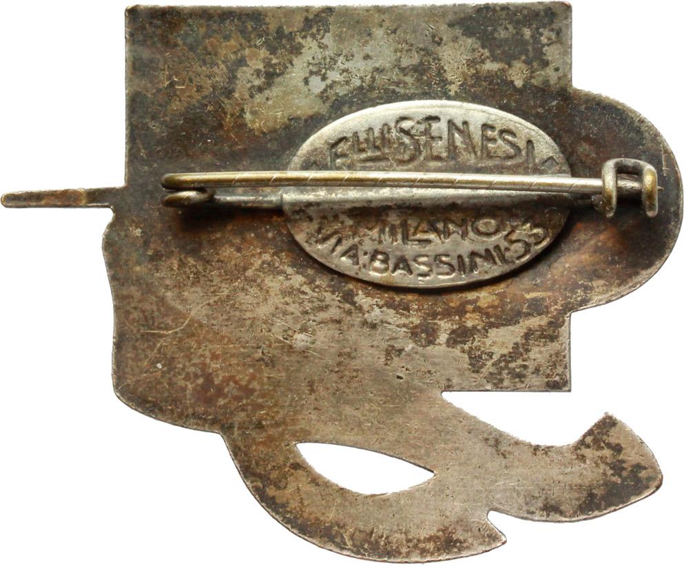 R/  Spilla retatngolare Adunata dell'Arma del Genio. Torino, 1935, A. XIII.     MB e smalti.   mm. 32.00   Dimensioni: 48.5 x 40 mm. Piccola mancanza di smalto. qSPL.