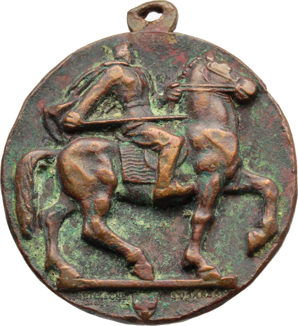 D/  Medaglia A. N. C. Adunata Nazionale Combattenti. Inaugurazione monumento a Diaz, Napoli 29-5-1936, XIV.     AE.   mm. 32.00    qBB.