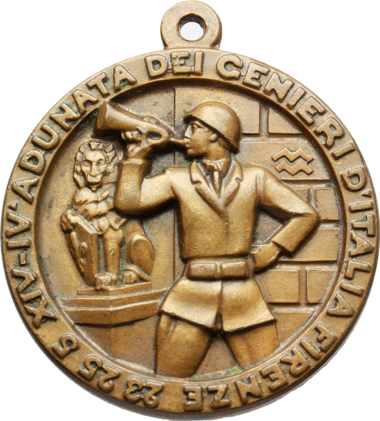 D/  Medaglia Associazione Nazionale Arma Genio. IV adunata dei genieri d'Italia, Firenze, 23-25 5 XIV.     AE.   mm. 35.50    SPL.