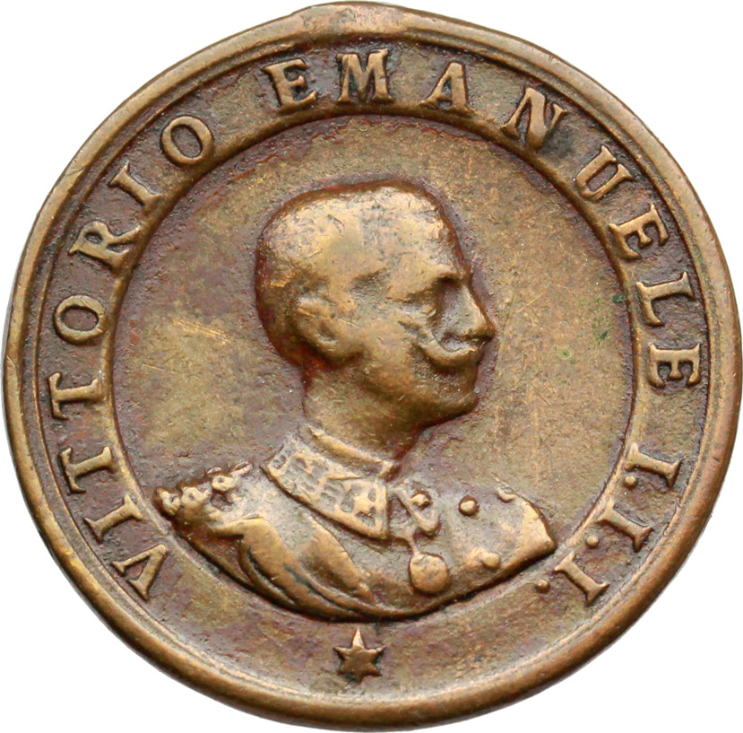 D/ Vittorio Emanuele III (1900-1943). Medaglietta tiro a segno.     AE.   mm. 23.00    qBB.