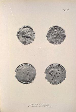 """R/ BABINGER F. – Il """"contorniato"""" erculeo di Anthemio. Roma, 1960. pp. 73-77, 1 tav."""