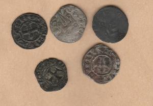 D/ ATENE, Guillaume I (1287-1308) e Guy II de La Roche (1294-1308) Lotto 5 Tornese mi da MB a BB tutti classificati  (NON SI ACCETTANO RESI)