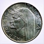 R/ Repubblica Italiana. 500 Lire 1965 Dante. Ag. FDC. Patina.§