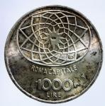 D/ Repubblica Italiana. 1000 Lire 1970 Roma Capitale. Ag. SPL. Patinata.§