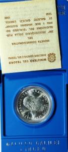 D/ Repubblica Italiana. 500 Lire. Galileo Galilei 1982, in confezione.FDC.§