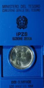 D/ Repubblica Italiana. 500 Lire Olimpiadi 1984 in conf. FDC.§
