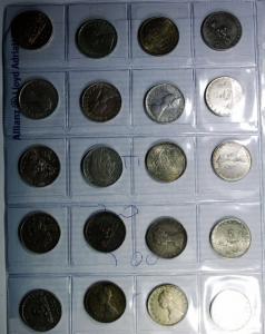 D/ Repubblica Italiana. 500 Lire Argento. Lotto di 20 Monete. Mediamente BB+.§
