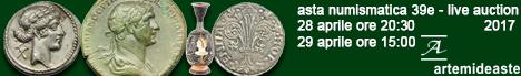 Banner Artemide Aste - Asta Numismatica 39E