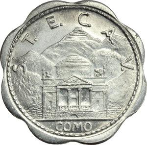 D/ Como. Repubblica Sociale Italiana  S.T.E.  C.A.V. Buono per Servizio Filo-Tramviario da 50 centesimi 1944/XXII.     AL.      FDC.