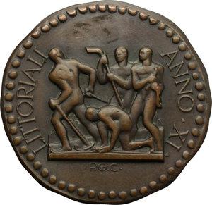 R/  Medaglia LITTORIALI ANNO XI.     AE.   mm. 36.00 Inc. P. G. C.   SPL.