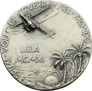 D/  Medaglia 1951 quarantennale dei primi voli in Libia.     AG.   mm. 40.00    SPL.
