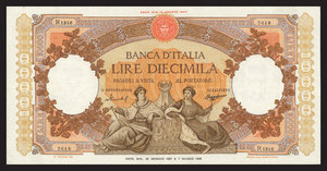 D/ BANCONOTE. Banca d'Italia. 10.000 lire 26/01/1957. Piegata BB/SPL.Stima: 120-150