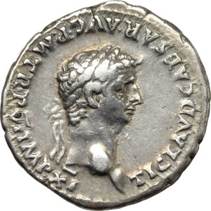 D/ Claudius (41-54).  AR Denarius, Rome mint. Struck 46-47 AD. Obv. TI CLAVD CAESAR AVG PM TR P VI IMP XI. Laureate head right. Rev. CONSTANTIAE AVGVSTI. Constantia seated left on curule chair, foot on footstool, raising right hand. RIC 32. AR. g. 3.67  mm. 18.50  RR. Very rare, brilliant and superb. Lovely light iridescent tone with golden hues. About EF.