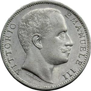 D/ Regno di Italia. Vittorio Emanuele III (1900-1943). 2 lire 1906.    Pag. 730. Mont. 145. AG.      SPL+.