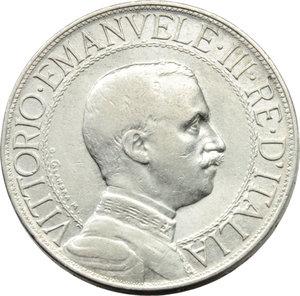 D/ Regno di Italia. Vittorio Emanuele III (1900-1943). 2 lire 1910.    Pag.733   Mont.148. AG.    R.  BB.