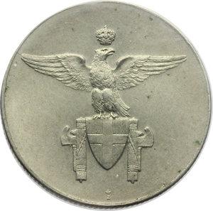 D/ Regno di Italia. Vittorio Emanuele III (1900-1943). Progetto senza valore (per una medaglia?).    Pag. P.P. -. Mont. -. Luppino p. 471. NI.    RR.  SPL+. Perizia Gaudenzi.
