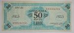 D/ Cartamoneta - Italia. Allied Military Currency.50 lire bilingue serie 1943 A. BB+.