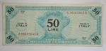 D/ Cartamoneta - Italia. Allied Military Currency.50 lire monolingua serie 1943. BB+.