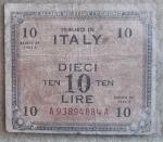 D/ Cartamoneta - 10 Am Lire. Bilingua. Serie 1943 A. MB.