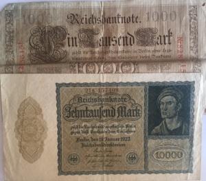 D/ Cartamoneta. Germania. Lotto di 2 banconote. Discreta Conservazione.s.v