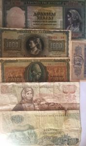 D/ Cartamoneta. Grecia. Lotto di 6 Banconote in discete conservazioni.s.v