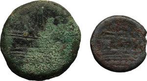 reverse:  Repubblica romana Lotto di 3 nominali di bronzo da classificare. Un asse, un triente ed un quadrante.
