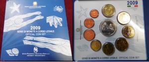 D/ Italia. Set Euro 2009 con 09 monete più una in argento.