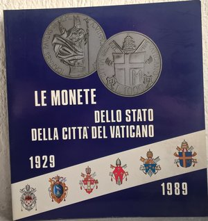 obverse: AA. VV. – Le monete dello Stato della Citta del Vaticano (1929-1989). Vaticano, 1989. pp. 181, molte tavv. col.