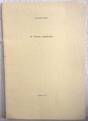 obverse: BOVI G. – Il Tornese napoletano. Napoli,1971. pp. 9, tav. 1 b/n
