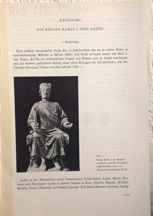 obverse: KOWALSKY H. – Die realen Karls I. von Anjou. Berna, 1974. pp. 119-160, ill b/n.