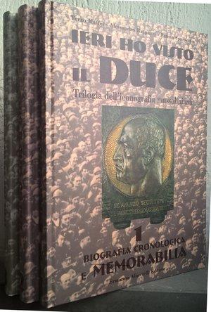 obverse: AA. VV. – Ieri ho visto il Duce. Parma, 1999. pp. 215+254+256, molte ill. col.