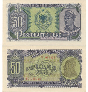 D/ ALBANIA - 50 LEKE 1947
