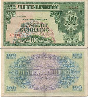 D/ AUSTRIA OCCUPAZIONE ALLEATA - 100 SHILLING 1944