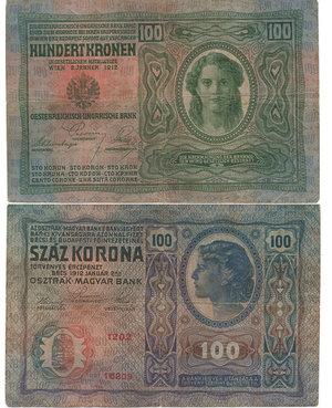 D/ IMPERO AUSTRO-UNGARICO - 100 KRONEN 1912