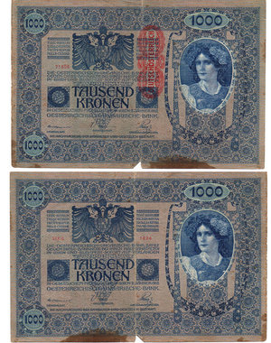 D/ AUSTRIA - 1000 KRONEN 1919