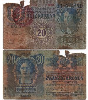 D/ UNGHERIA - MAGYAR BANK - TRESURY BUDAPEST NOTE - 20 KRONEN 1920 - MAGYARORSZAG