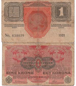 D/ AUSTRIA - 1 KRONE 1916 (1919)