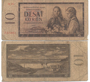 D/ CECOSLOVACCHIA - 10 KORUN 1960