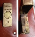 D/    AccendinoDUPONT, placcato oro, peso complessivo: 105 gr. – Matricola: 80JGN55. Funzionante. Segno di utilizzo e del tempo, però discreto.