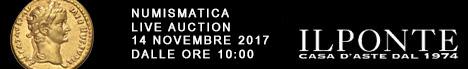 Banner Il Ponte - Asta Numismatica 14 novembre 2017