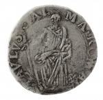 Zecche Italiane. Roma. Paolo V. 1605-1621. Testone. Ag. D/ PAVLVS V PONT M A V Stemma. R/ SAN PAVLVS ALMA ROMA San Paolo. Munt. 28. Peso gr. 9,35. BB. #