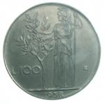 Repubblica Italiana. 100 lire 1958. Mont. 11. AC. NC. FDC assoluto.]