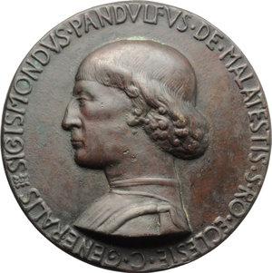 Rimini  Sigismondo Pandolfo Malatesta (1432-1463). Medaglia del castello.