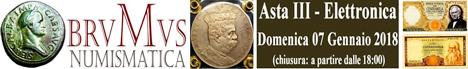 Banner Brumus Numismatica Asta III