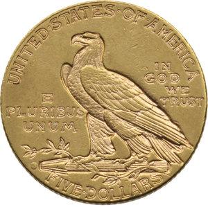 "U.S.A. Federazione. 5 dollari 1916 ""Indiano"". Fr.148. Au. BB"