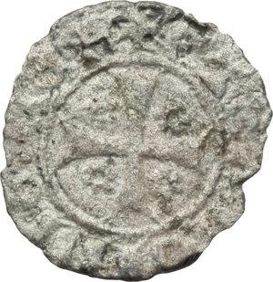 SARDEGNA. Bonaria. Giacomo II d'Aragona (1323-27) Alfonsino minuto (Ø14,5). D/IACOBVSDEIGRA, scudo a cuore. R/ARAGONVMREX, croce e 4 rose. Piras 3 (65)-MIR 6. Mi. Molto raro qBB