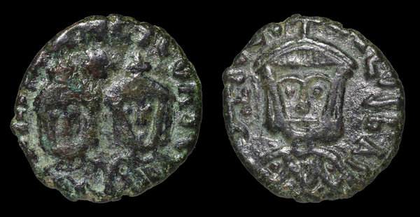 Coins & Paper Money Byzantine Bronze Coin Theophilus & Michael Iii Ae Follis 829-842 Ad.